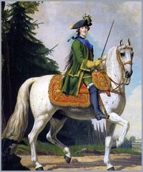 В. Эриксен. Конный портрет Екатерины II. 1762г.