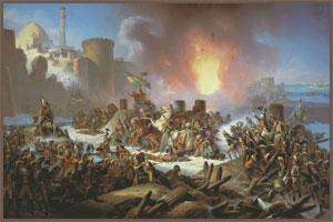 Я. Суходольский. Штурм Очакова 6 декабря 1788 года