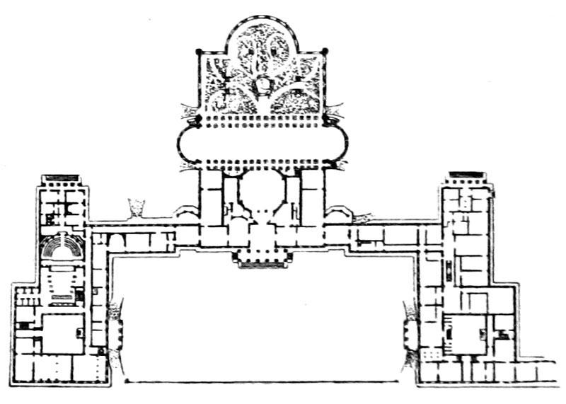 В планировке дворца Старов